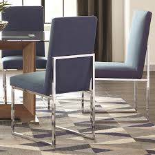 modern floating design blue dining chairs set of 2 today overstock 15616610