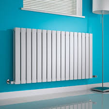 Slimline Designer Radiators Milano Alpha White Horizontal Double Slim Panel Designer