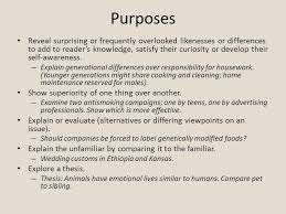 comparison contrast essay comparison contrast comparison  3 purposes