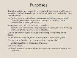 comparison contrast essay comparison contrast comparison  3 purposes