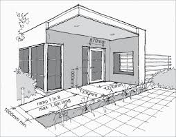 the livable and adaptable house yourhome House Extension Plans Perth a line drawing of the front door of a home there is a ramp that house extension designs perth