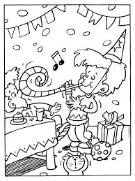 Kleurplaat Feest Verjaardag Slingers Kleurplatennl Verjaardag