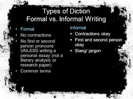 english honors didls d diction i imagery d details l  7 types of diction formal vs