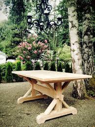 diy farmhouse table base 17 elegant classic trestle tables