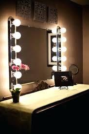 bedroom vanity with lights. Makeup Vanity With Lights Mirror Light Bulbs Around It Also Bedroom W