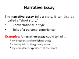 types of essays lecture recap i what is an outline a the narrative essay tells a story