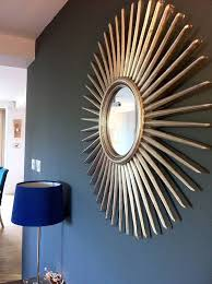 antique silver starburst wall mirror by the forest co