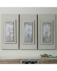 triptych trees framed canvas wall art 3 piece set multicolor on rectangular framed wall art with incredible summer sales on triptych trees framed canvas wall art 3