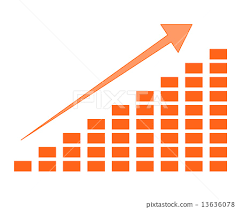 Rising Chart Stock Illustration 13636078 Pixta