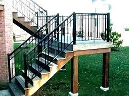 Outdoor Metal Stair Railing Kits Wrought Iron Or Removable Aluminum ...
