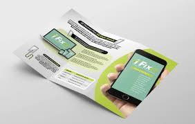 Phone Repair Shop Tri Fold Brochure Template In Psd Ai