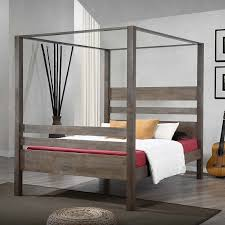 Bed Frame : Full Size Canopy Twin Wood Dark Cheap Frames King ~ Ojalaco
