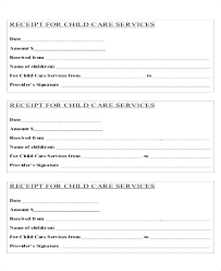 Child Care Tax Receipt Template