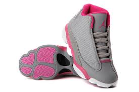 jordan shoes for girls pink and white. girls air jordan 13 retro gray pink white for sale-2 shoes and