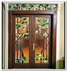 interior leaded glass french doors modern looks stained glass front door handballtunisie