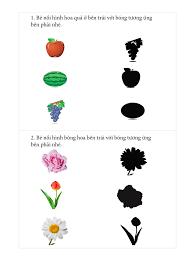 Bé 3-4 tuổi] Bài tập tìm bóng cho đồ vật – Bé tư duy