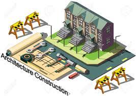 illustration of info graphic architecture construction concept vector illustration of info graphic architecture construction concept in isometric graphic