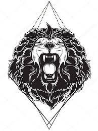 Lví Hlava Tetování Fototapeta12
