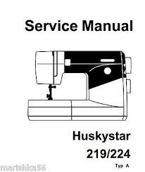 Huskystar 219 Sewing Machine Manual