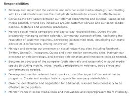 Social Media Manager Job Description Sample, Social Marketing ...
