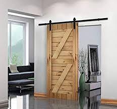 uni 8 ft american style sliding wood barn door hardware sliding track kit steel straight style