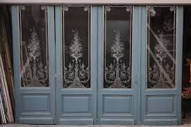 louis xv etched glass doors