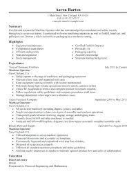 Production Worker Resume Production Operative Resume Machine ...