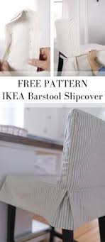 how to sew a parsons chair slipcover for the ikea henriksdal bar stool