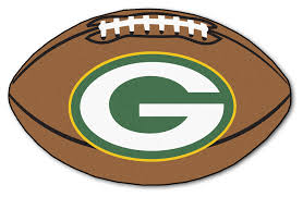 green bay packers pigskin decor area rug 21 x 30 green bay packers merchandise