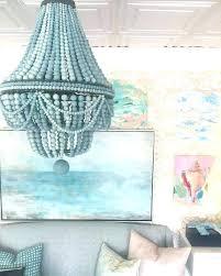 turquoise wood beaded chandelier chandelier designs regarding 2018 turquoise wood bead chandeliers gallery 7