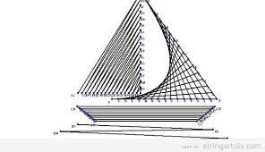 Boat String Art Free Printable Pattern