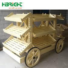 china wooden wagon shape bakery display cart china bakery display cart