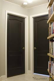painted interior door ideas painting the interior doors black front room interior ideas