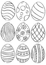 Eggs Coloring Pages Free Preschool Easter Egg Printable