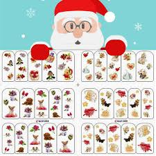 Santa Watermark Us 5 99 Christmas Nail Watermark Stickers Watermark Decals Santa Elk Snow Bell Design Nail Decals In Stickers Decals From Beauty Health On