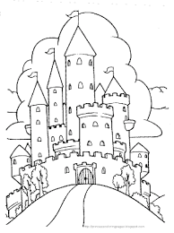Principessa Pagina Da Colorare Castello Coloring Pages For Kids