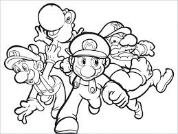 Supermario Coloring Pages Superb Simple Mario And Luigi Coloring