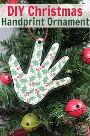 DIY Keepsake ornament. handprint ornament for christmas Need to engage  parents? Need to send