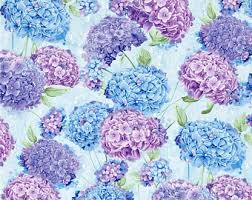 Hydrangea fabric | Etsy & Harmony Hydrangea Sky ~ Timeless Treasures Collection, Cotton Quilt Fabric Adamdwight.com