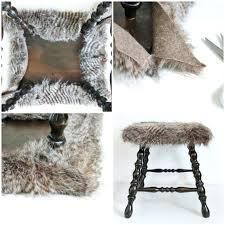 diy fur chair cover on faux fur diys for cozy weath