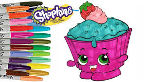 Shopkins Coloring For Kids Cupcake Chic Download 3 Shopkins