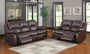 Leather Reclining Living Room Sets Homelegance Cranley Reclining Sofa Set Brown Bonded Leather