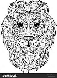 Small Picture Hand Drawn Doodle Zentangle Lion Illustration Decorative Ornate