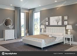 Luxus Schlafzimmer Weiß Grau Stockfoto Sanchopancho00 198334724