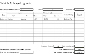 Mileage Logbook New Mileage Log Book Template Travel Excel Vehicle Trip