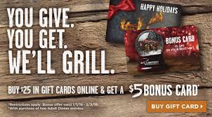 longhorn gift cards today