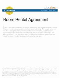 Room Rental Contract Best Sample Room Rental Agreement Letter 44 Best Real Estate Forms Line