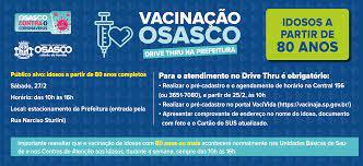 Osasco antecipa vacinação de idosos com 80 anos ou mais em Drive Thru -  Prefeitura de Osasco