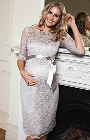 Amelia Maternity Dress Short Silver Moonbeam Maternity Wedding