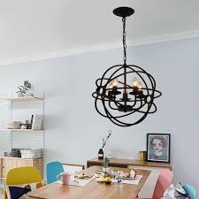 metal orb chandelier lamp round hanging